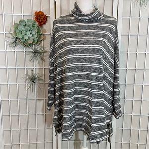 Anthropologie Postmark Striped Tunic Sweater